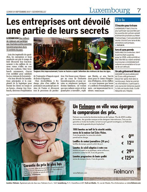 6 Luxembourg LUNDI 18 SEPTEMBRE 2017 LESSENTIEL.LU 154 mètres de piste  cyclable ouverts sous le pont Adolphe LUXEMBOURG La nouvelle passerelle  pour vélos ... e898337314f0