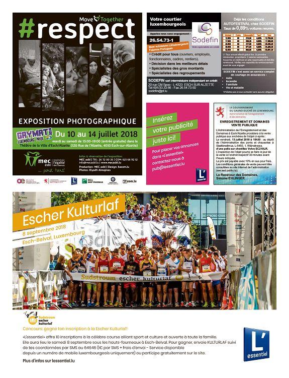 Lessentiel Luxembourg N2485 10 Jui 2018 Page 18 19 L