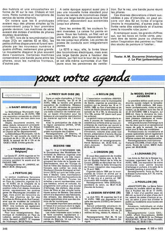 51 Avril Page N°503 1988 50 Loco Revue kZiuXOP