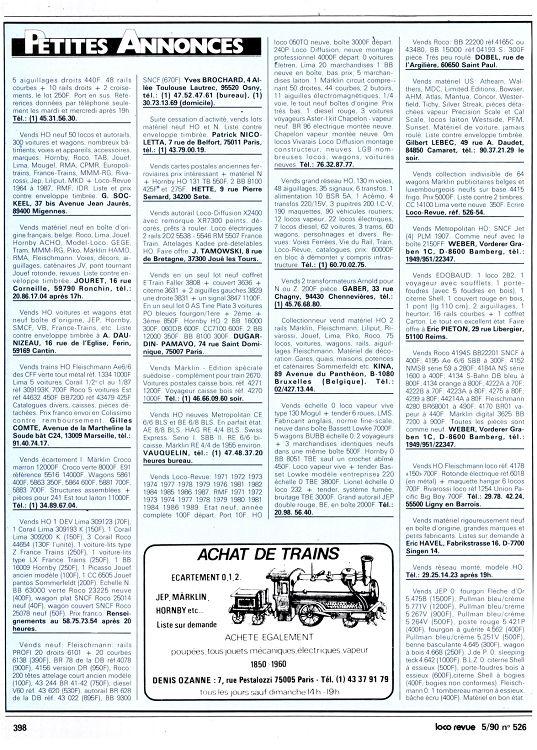 Loco-Revue n°526 mai 1990 - Page 72 - 73 - Loco-Revue n°526