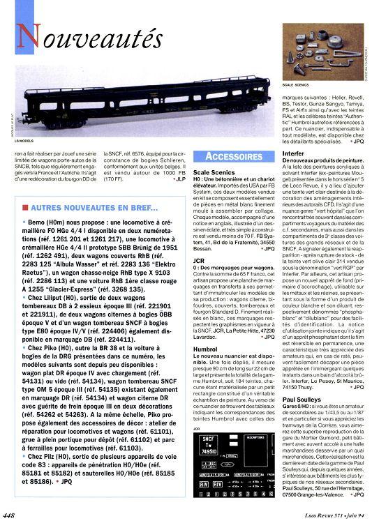 Loco Revue N 571 Juin 1994 Page 46 47 Loco Revue N 571 Juin 1994 Loco Revue Modelisme Autres Loisirs 1001mags Magazines En Pdf A 1 Et Gratuits