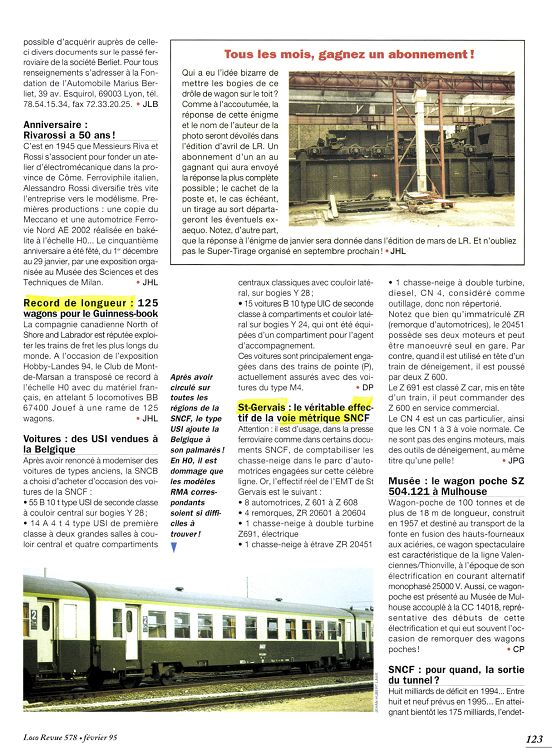 Loco 71 Page Février 1995 70 Revue N°578 fb7Y6yvg