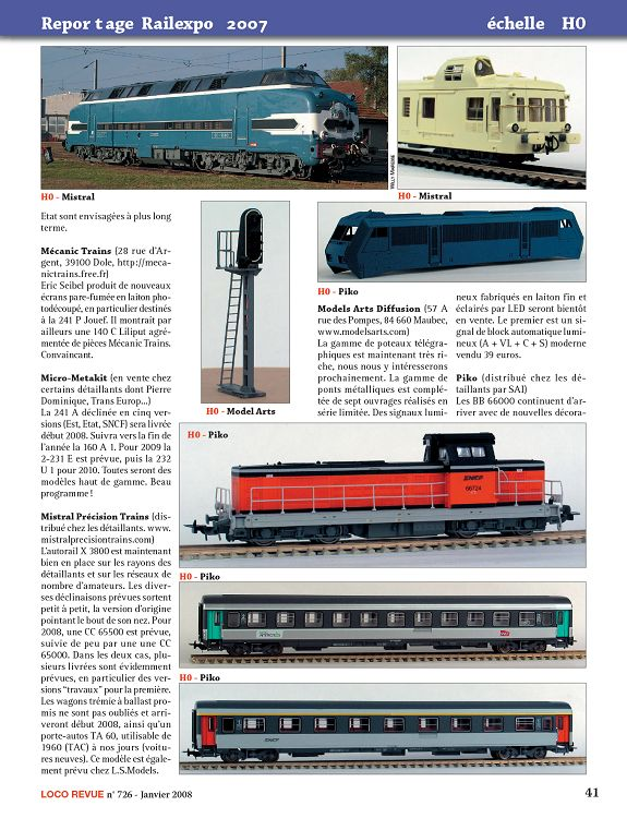 MEHANO CC DC  DIESEL DE LIGNE 70000 FRET SNCF ECHELLE HO