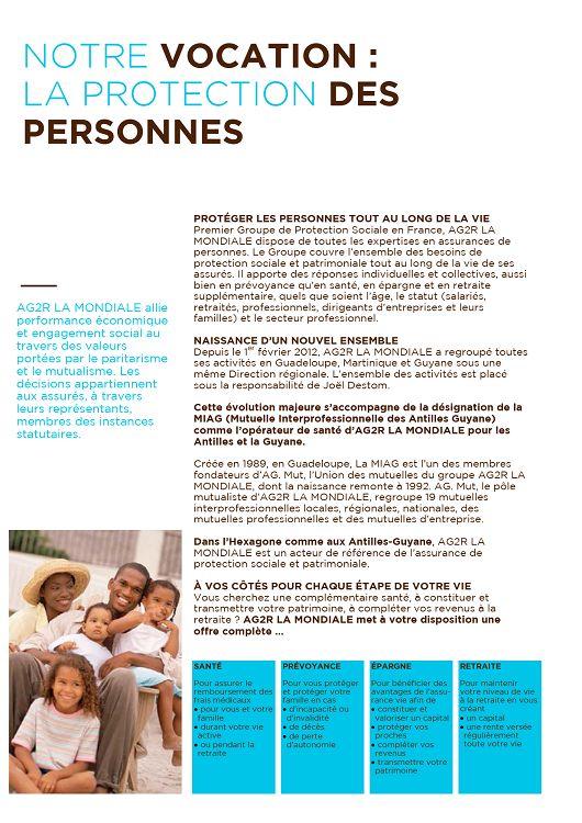 NOTRE VOCATION   LA PROTECTION DES PERSONNES AG2R LA MONDIALE allie  performance économique et engagement social au travers des valeurs portées  par le ... 453dc18105db