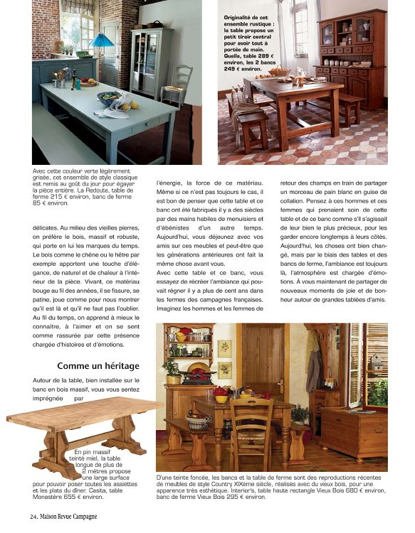 maison de campagne magazine affordable dcoration maison. Black Bedroom Furniture Sets. Home Design Ideas