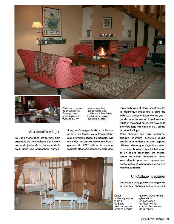 Maison revue campagne d coration int rieur maison for Revue decoration maison