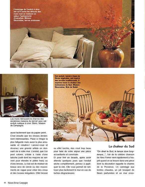 maison de campagne magazine trendy interieur maison. Black Bedroom Furniture Sets. Home Design Ideas