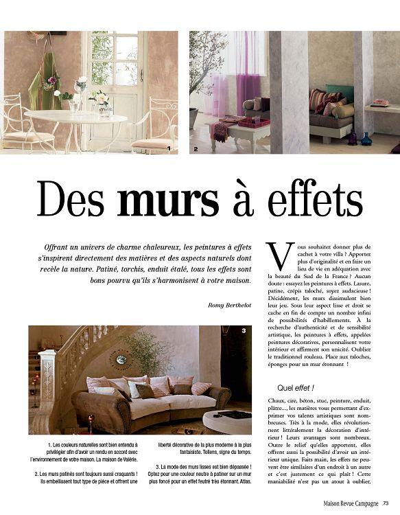 Maison revue campagne n 26 avr mai 2011 page 36 37 for Revue de decoration maison