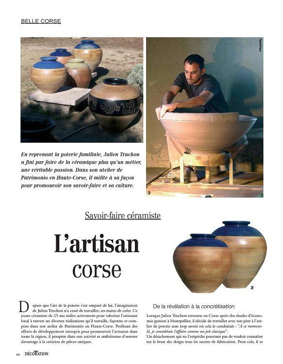 belle corse topaloff boyan 1 en reprenant la poterie familiale julien truchon a fini par faire de la cramique plus quun mtier une vritable passion