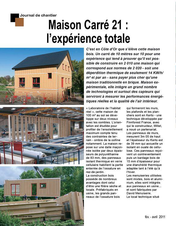 Maison revue verte n 12 f v mar avr 2011 page 2 3 for Equipement interieur maison