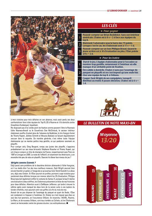 Maxi Basket n°8 mai 2009 Page 22 23 Maxi Basket n°8