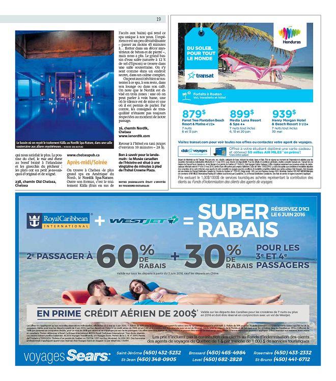 Métro Montréal n°2016-05-11 mercredi - Page 12 - 13 - Métro