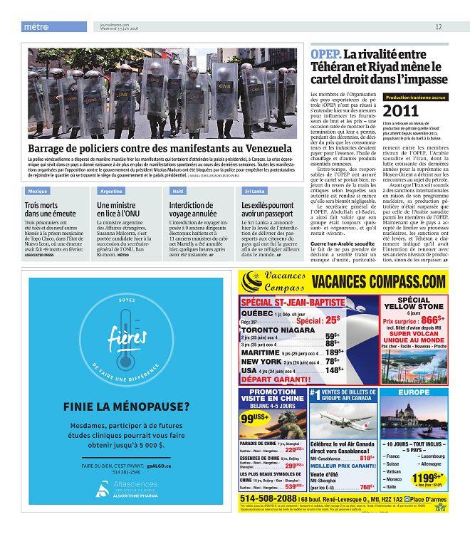 Métro Montréal n°2016-06-03 week-end - Page 12 - 13 - Métro Montréal ...
