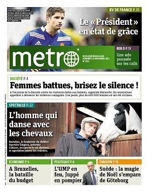 Metro News Paris n°2313 23 nov 2012