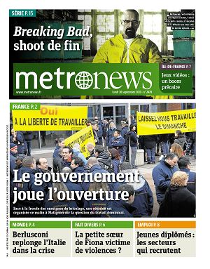 Metro News Paris n°2478 30 sep 2013
