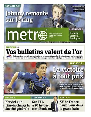 Metro News Paris n°2234 15 jun 2012