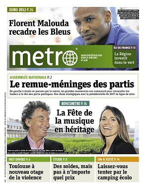 Metro News Paris n°2238 21 jun 2012