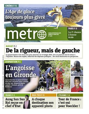Metro News Paris n°2241 26 jun 2012