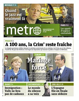 Metro News Paris n°2243 28 jun 2012