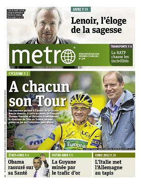 Metro News Paris n°2244 29 jun 2012