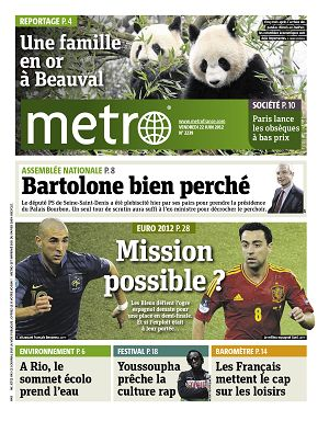 Metro News Paris n°2239 22 jun 2012
