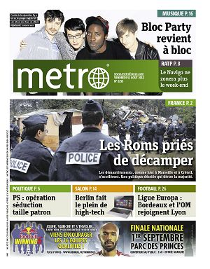 Metro News Paris n°2255 31 aoû 2012