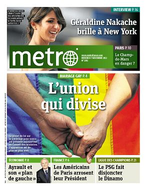 Metro News Paris n°2301 7 nov 2012