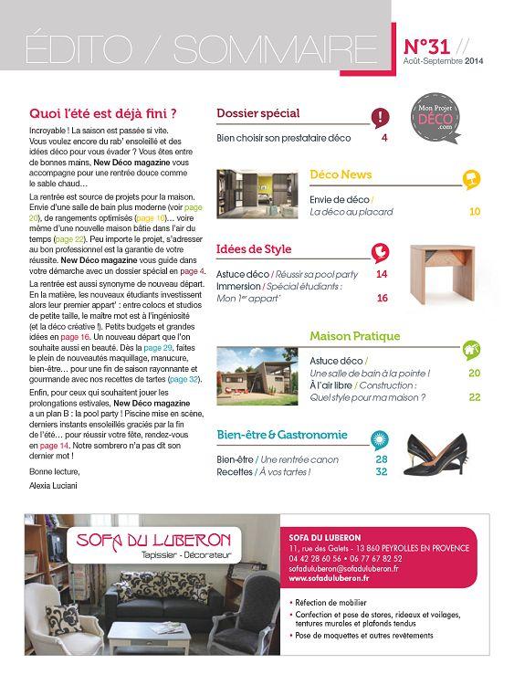 New d co magazine n 20 novembre 2012 page 2 3 new - Magazine deco maison gratuit ...