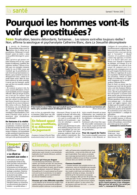 pourquoi les hommes voient des prostituées
