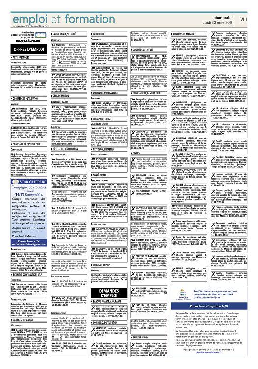 Nice matin n2015 03 30 lundi page 48 49 nice matin n2015 03 offres demploi arts spectacles autres fonctions recherche photographes hf professionnel amateur ou tudiant pour marineland envoyez cv et photo thecheapjerseys Choice Image