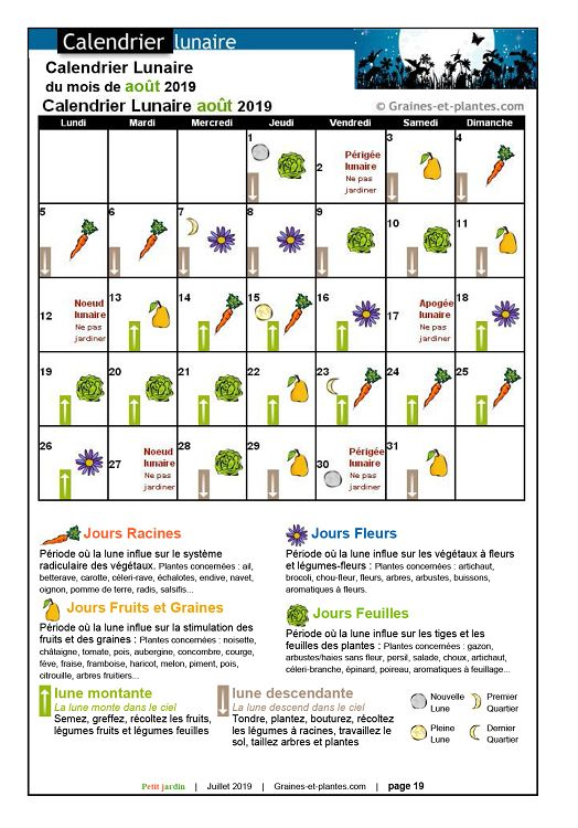 Calendrier Lunaire Graines Et Plantes Mai 2019.Petit Jardin N 148 Jui Aou 2019 Page 14 15 Petit