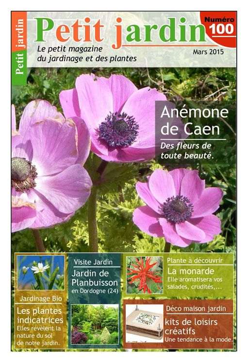 Petit jardin n 100 mars 2015 page 2 3 petit jardin n for Jardin mars 2015