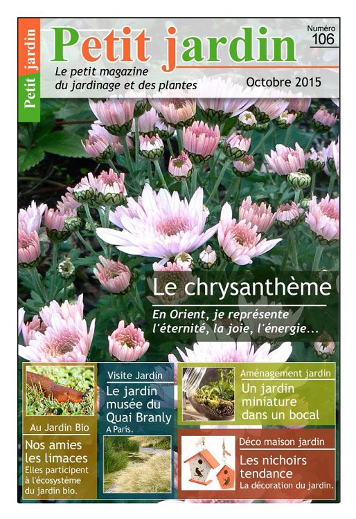 Petit jardin n 106 octobre 2015 page 2 3 petit for Jardin octobre 2015