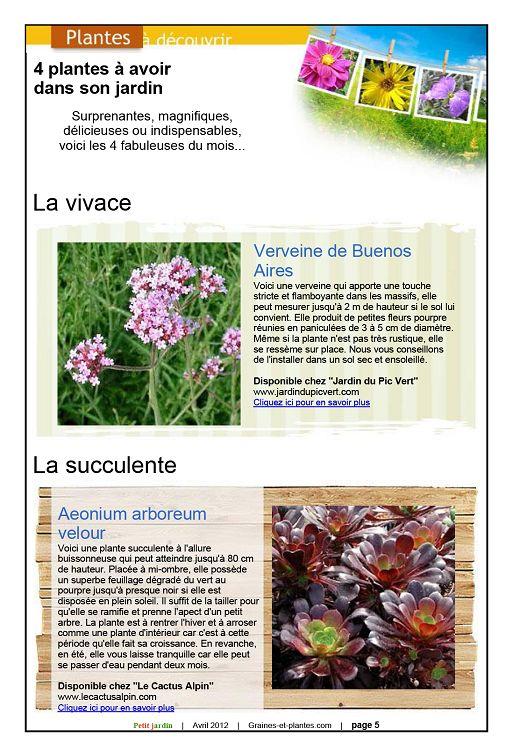Petit Jardin n°68 avril 2012 - Page 4 - 5 - Petit Jardin n°68 avril ...