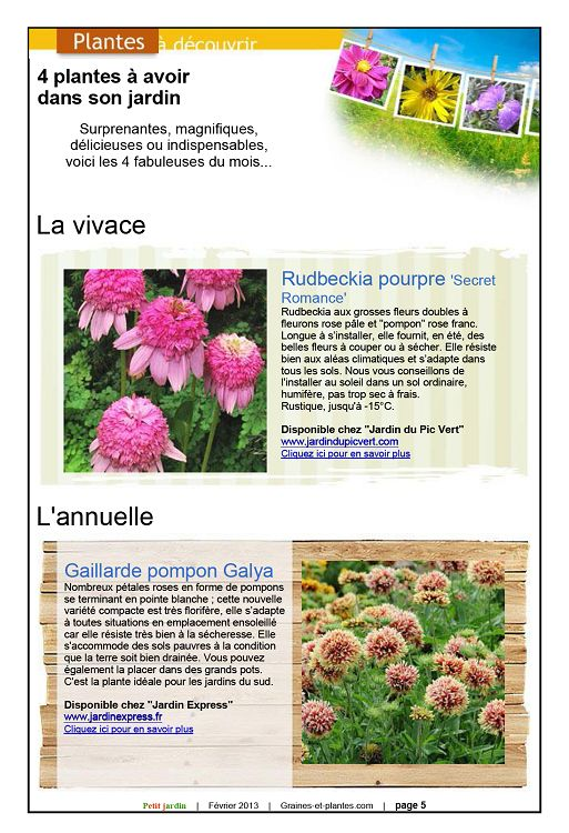 Petit jardin n 77 f vrier 2013 page 2 3 petit jardin for Recherche jardinier 77