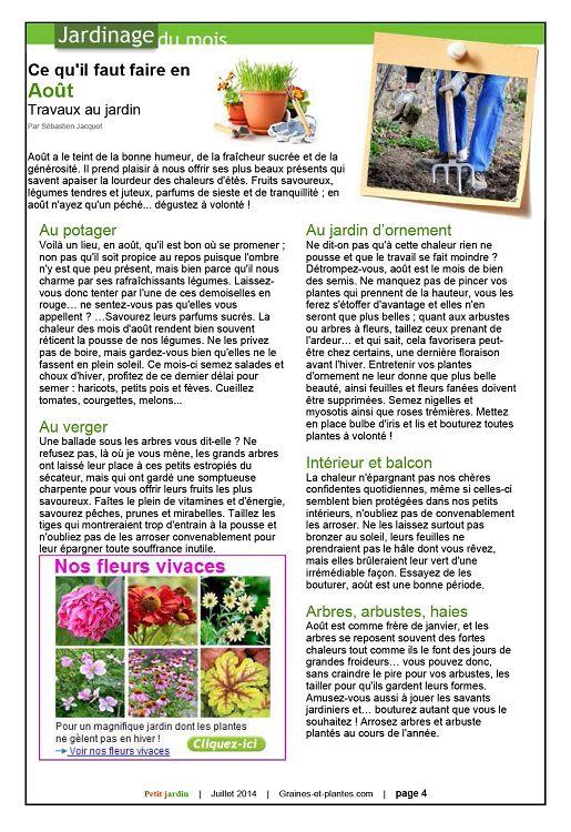 Petit jardin n 93 jui ao 2014 page 2 3 petit jardin for Jardin 93
