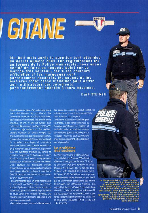 Pro Sécurité n°34 janvier 2006 Page 60 61 Pro Sécurité