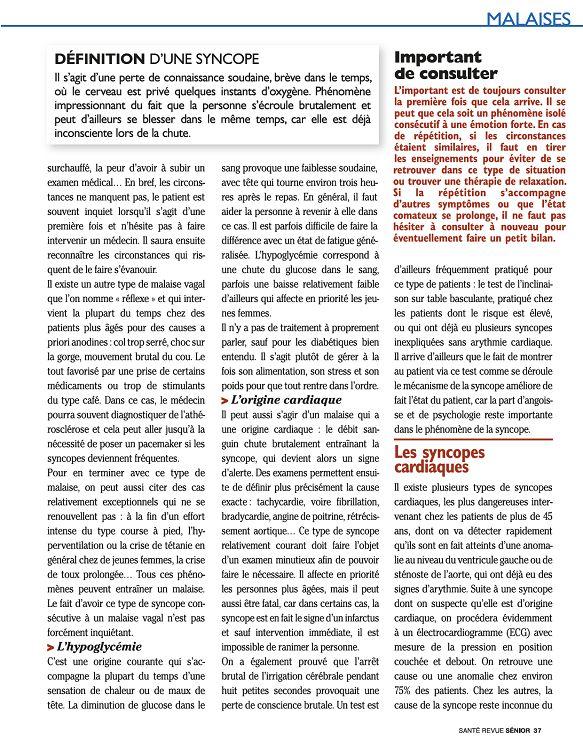 Santé revue Seniors n°6 fév/mar/avr 2011 - Page 16 - 17 - Santé ...
