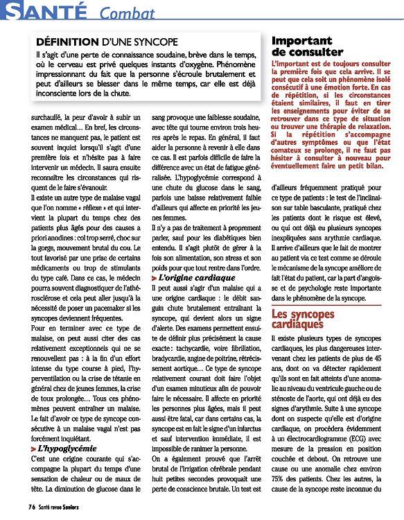Santé revue Seniors n°9 nov-déc 11/jan 2012 - Page 2 - 3 - Santé ...