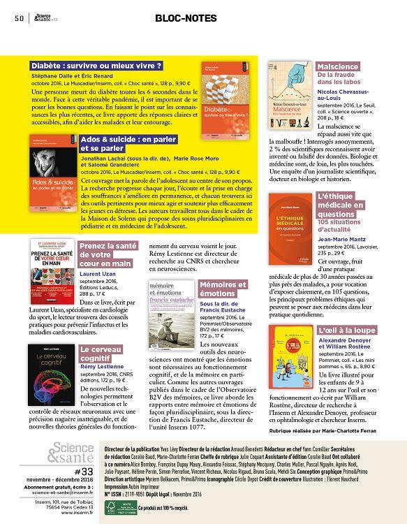 Science Sante N 33 Nov Dec 2016 Page 50 51 Science