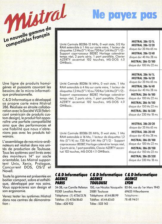 Soft Micro N52 Mai 1989