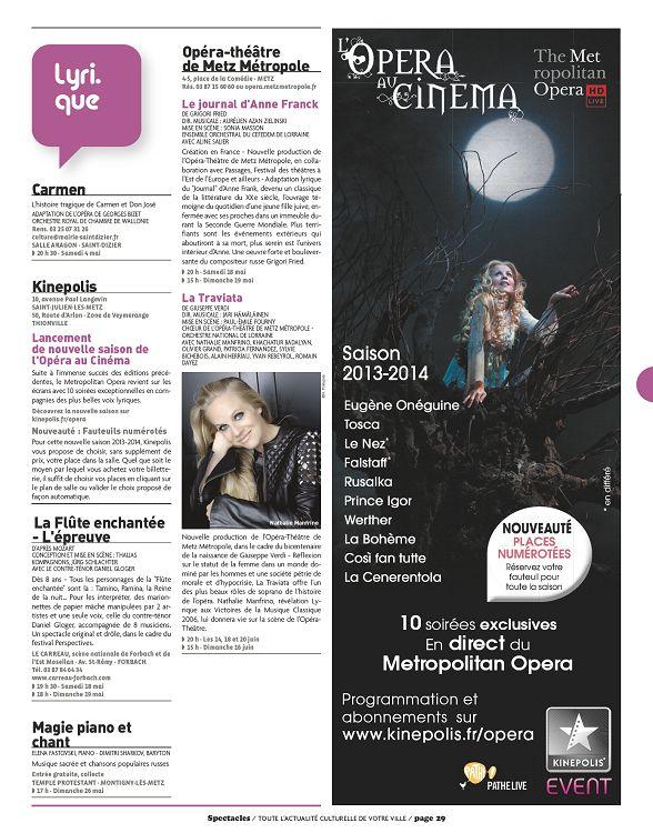 Spectacles à Metz n°250 mai 2013 - Page 28 - 29 - Spectacles à Metz ... 27670ba021c3