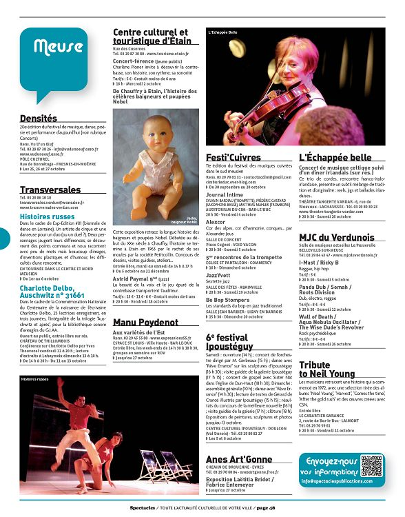 Spectacles A Metz N 254 Octobre 2013 Page 36 37 Spectacles A