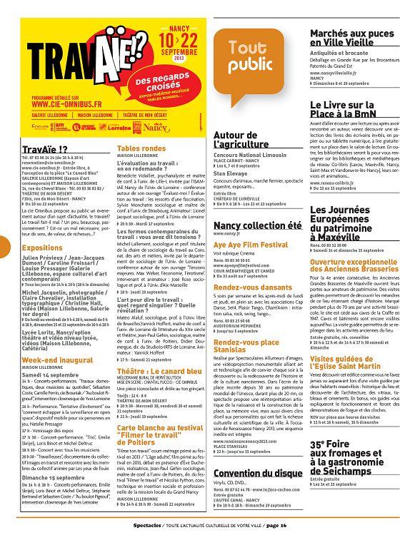 Spectacles à Nancy n°299 septembre 2013 - Page 36 - 37