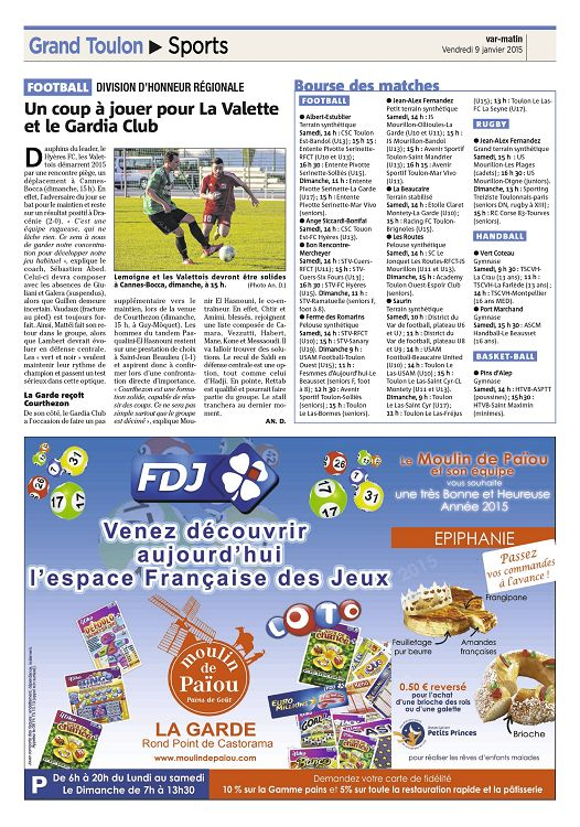 Carte Castorama Dimanche 15.Var Matin N 2015 01 09 Vendredi Page 18 19 Var Matin N 2015 01