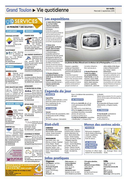 Var Matin N2015 09 02 Mercredi Page 12 13 Var Matin N2015 09