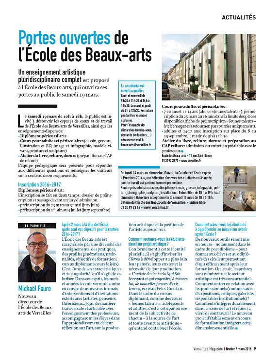 Versailles Magazine n°2016-2-3 fév/mar - Page 8 - 9 - Versailles ...