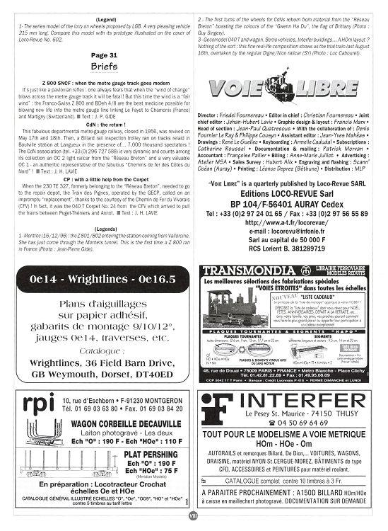 Voie Libre n°1 oct/nov/déc 1997 - Page 22 - 23 - Voie Libre n°1 oct ...