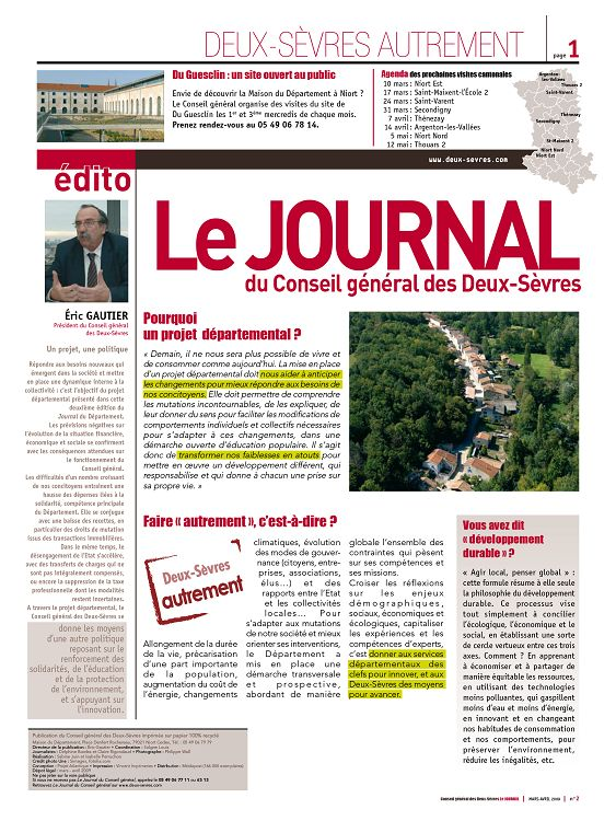 79 Le Journal n°2 mar/avr 2009 - Page 2 - 3 - 79 Le ...
