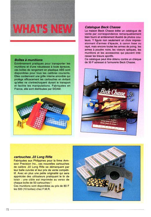 Action Armes Tir N 189 Juin 1996 Page 72 73 Action Armes